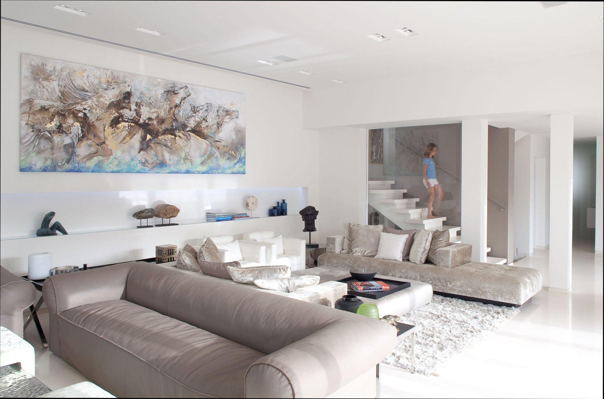 Fesselnd Wohnzimmer In Weiss Beige