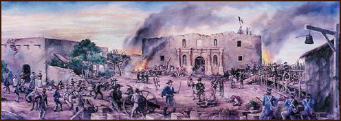 are huge original paintings of the Battle of the Alamo and the ...