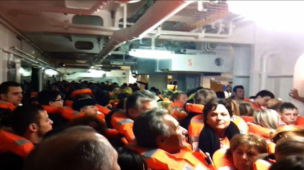 Costa concordia cruise ship runs aground off coast of