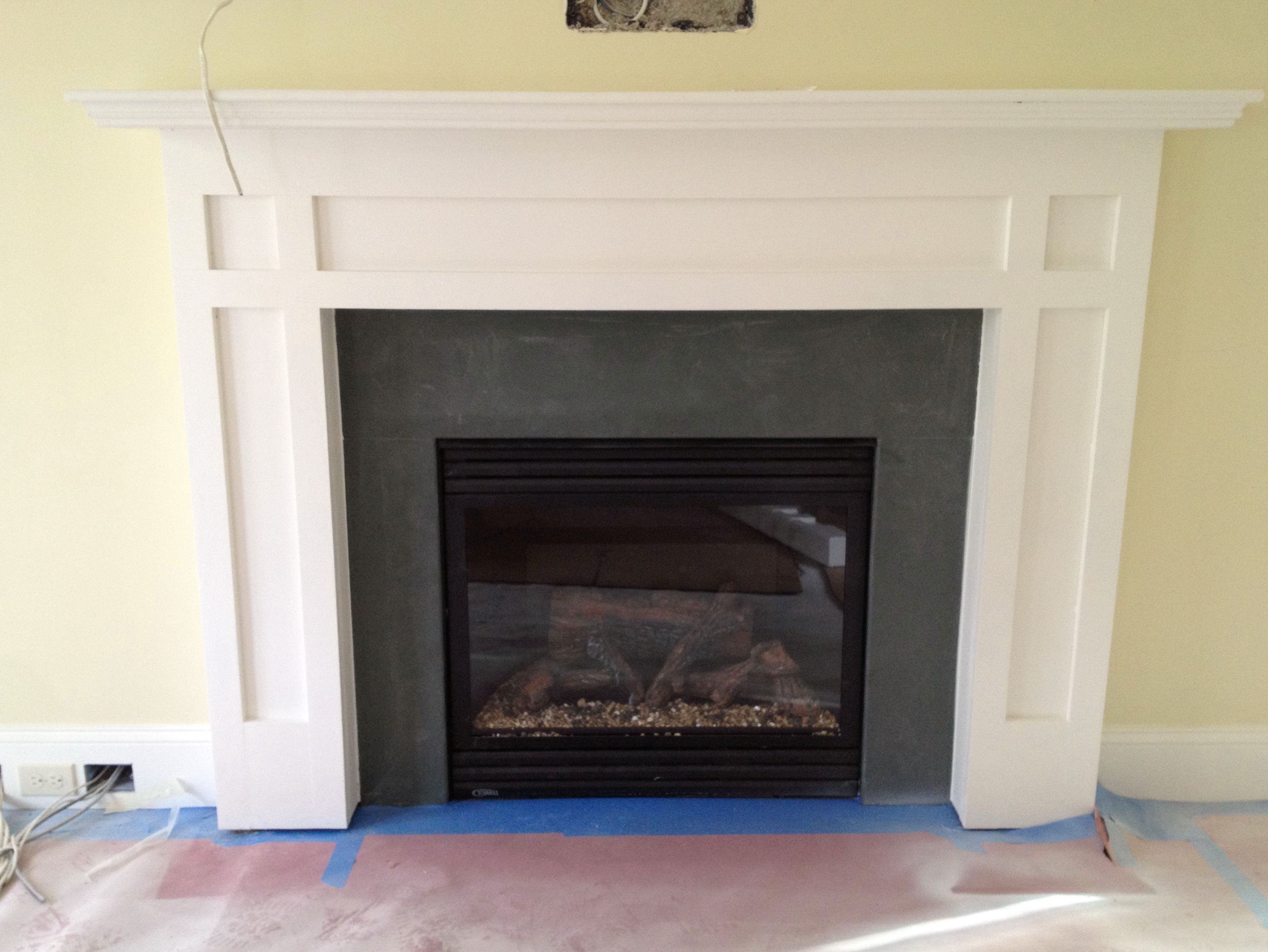 Gray Slate Fireplace Surround Pinteres