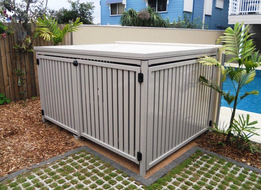 Aluminium Slatted Fencing Pool Storage Pool Equipment Enclosure Pool Enclosures