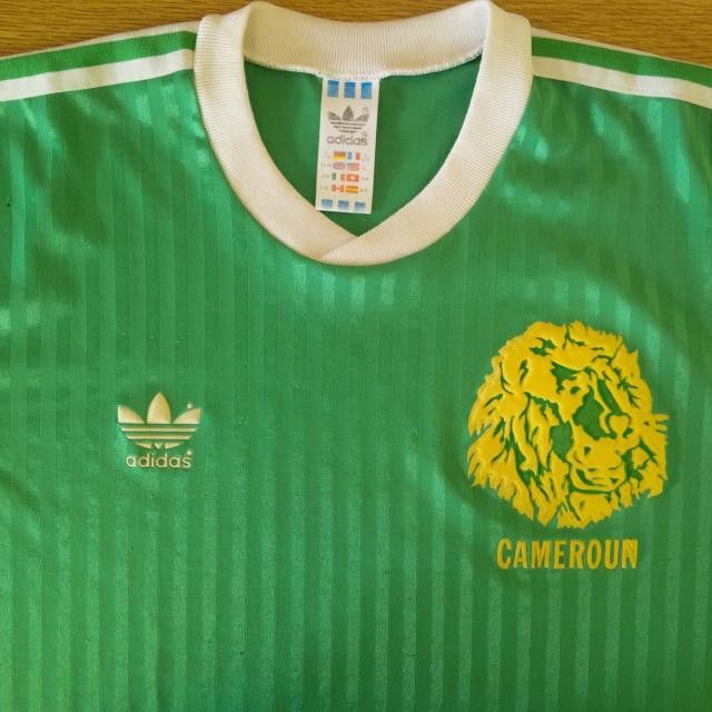 1990 92 Cameroon Home Shirt Design #Adidas #cameroon