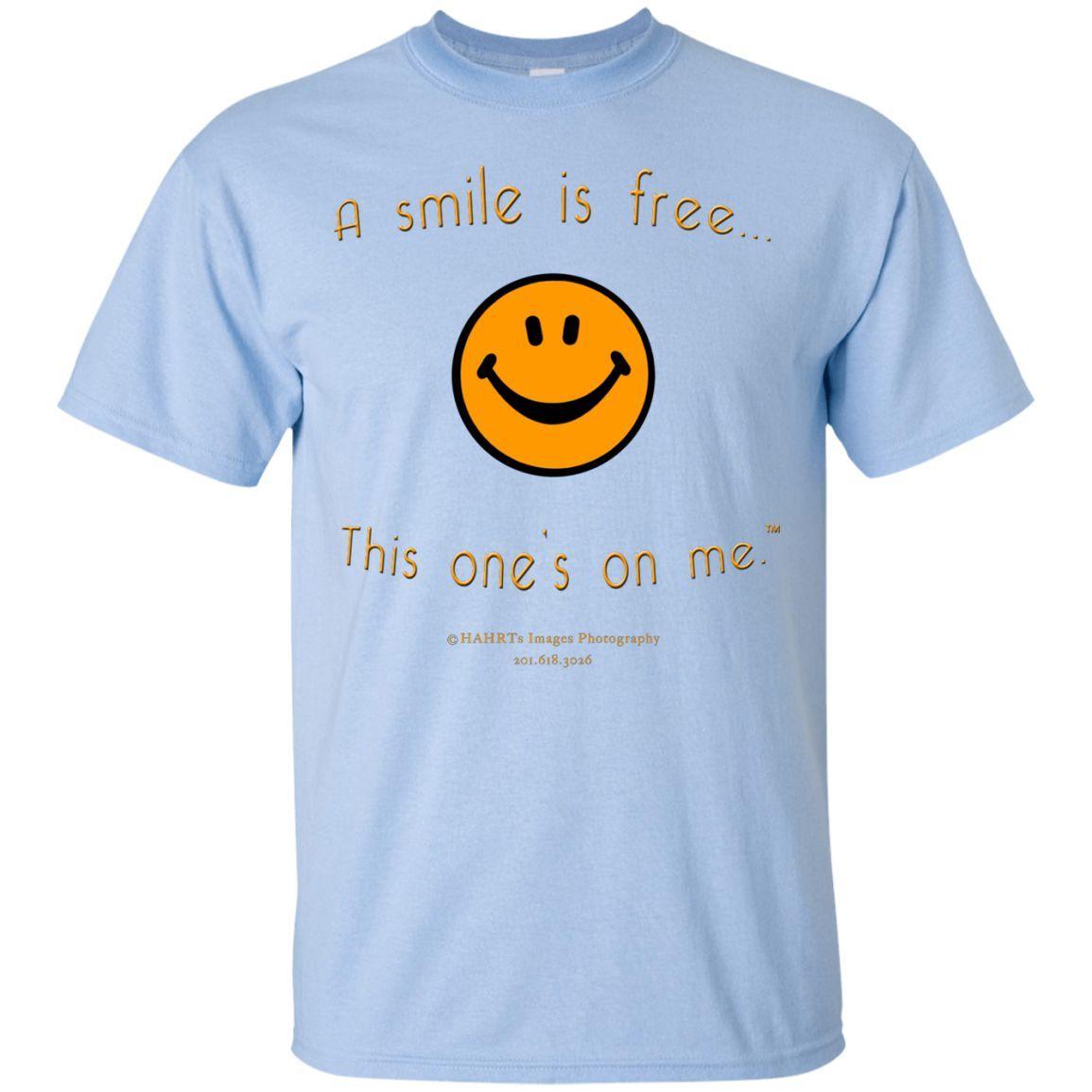 Custom Ultra Cotton T-Shirt Pumpkin Smile (Serenity)