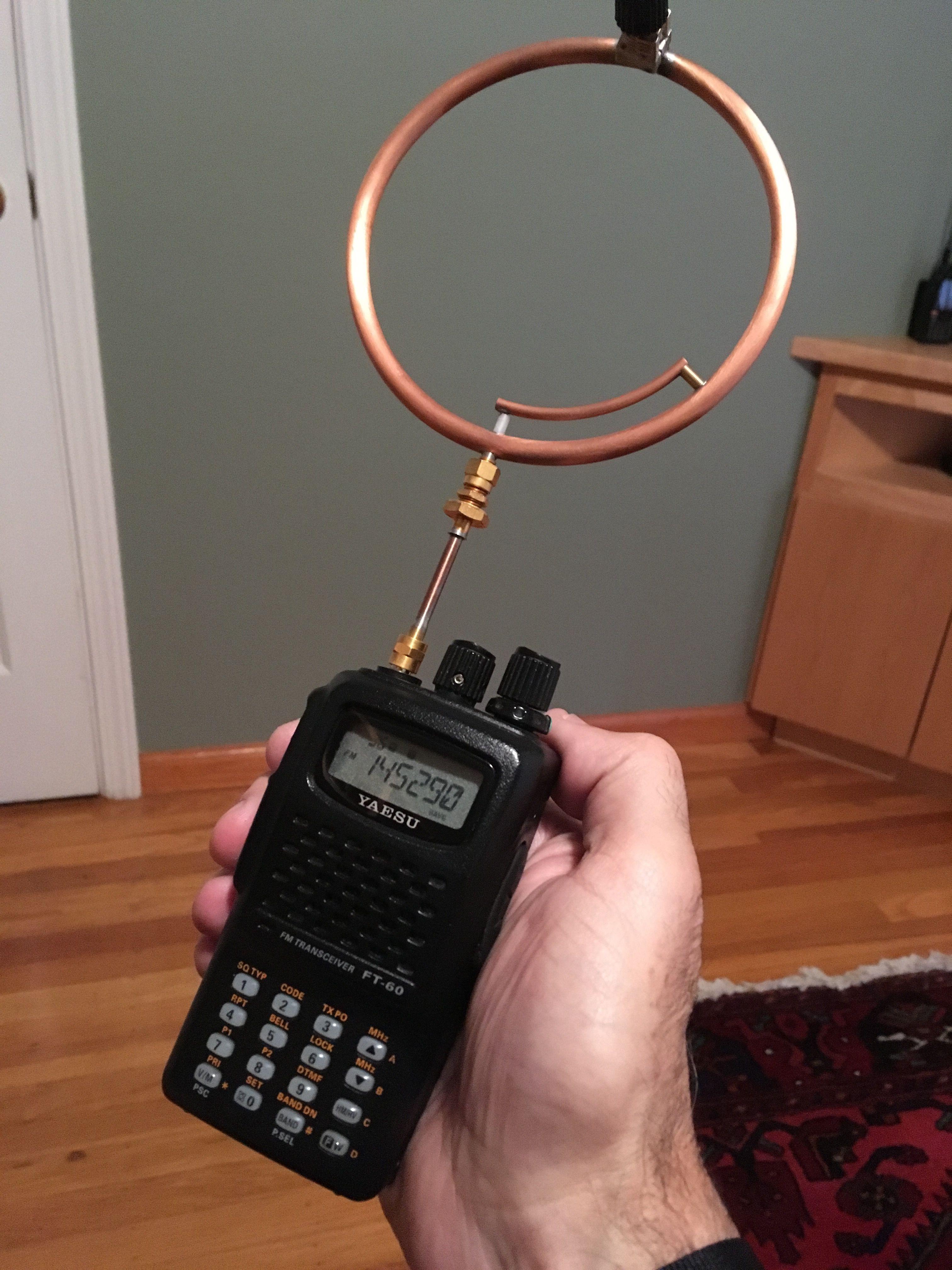 Schema Elettrico Walkie Talkie : Vhf magnetic loop by:n6voa n6voa utoc ham radio antenna ham