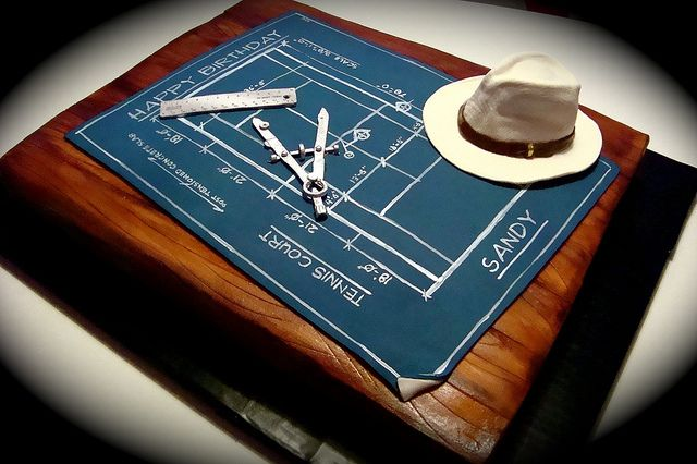 blueprint cake by debbiedoescakes, via Flickr