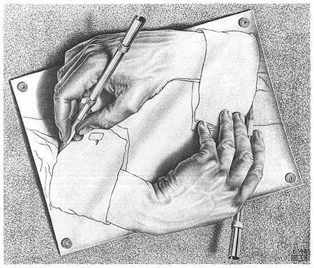 Dibujo Arte De Escher Arte Manual Arte De Ilusion