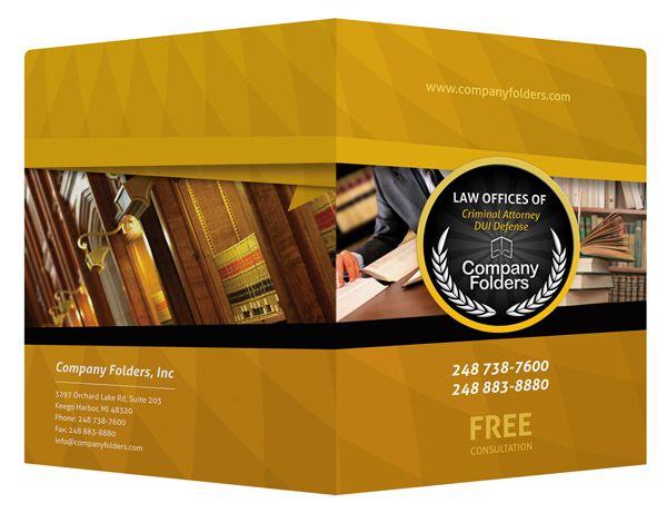 free template] criminal attorney legal pocket folder on behance, Presentation templates