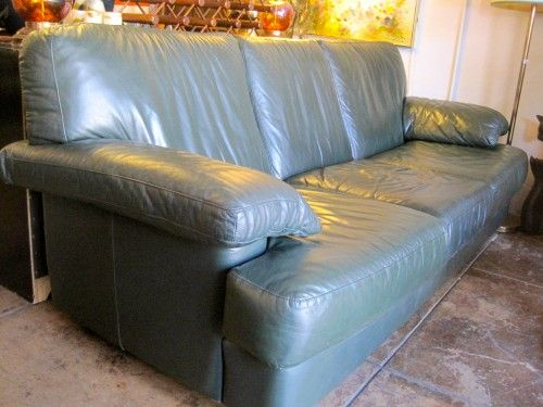 1980s Italian Leather Sofa Italian Leather Sofa Vintage Sofa Leather Sofa