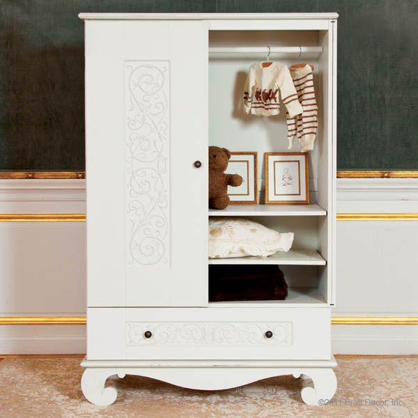 Bratt Decor Chelsea Armoire White, Available At #polkadotpeacock.  #peacocklove #brattdecor