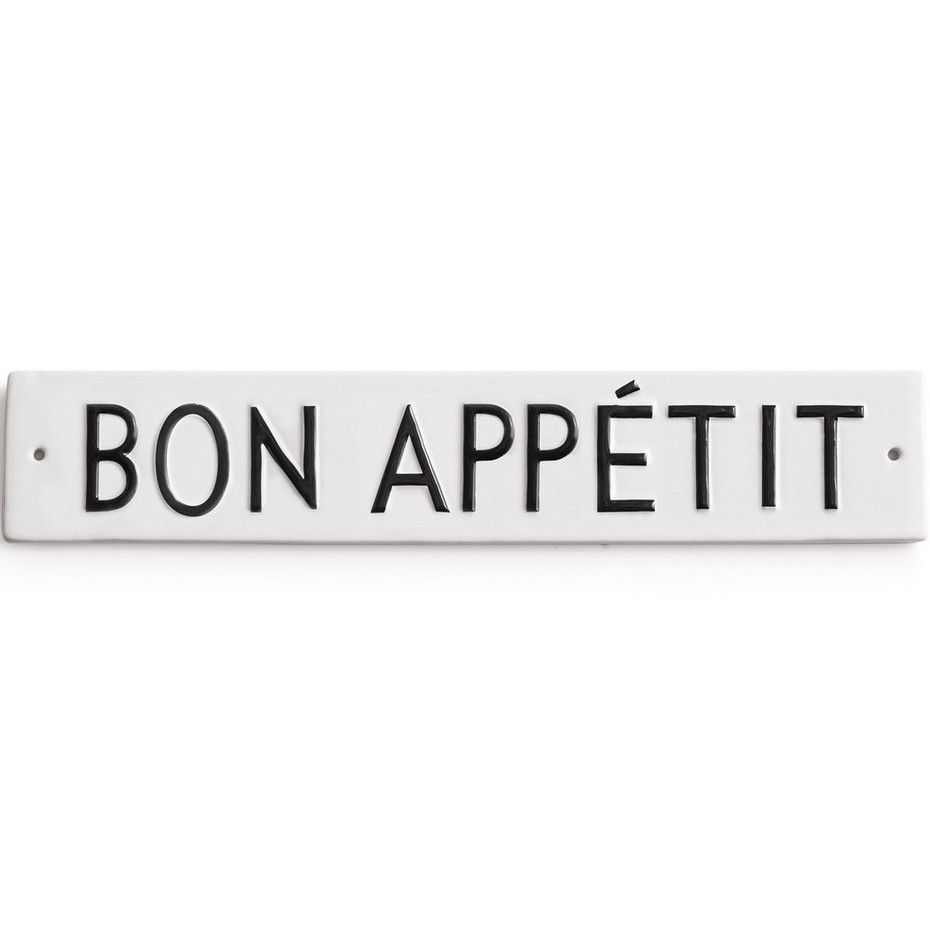 Word Play Bon Appetit Sign From The Waiting On Martha Shop