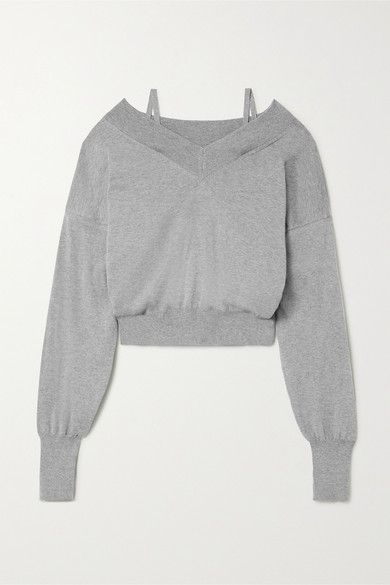 Maison Margiela – Cold-shoulder Cotton-jersey Sweatshirt – Gray