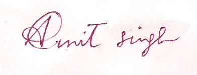 signature of my name