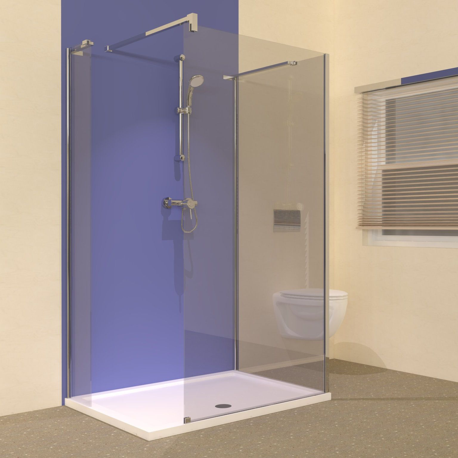The Line range of 1200 walk in shower enclosures are ideal for ...