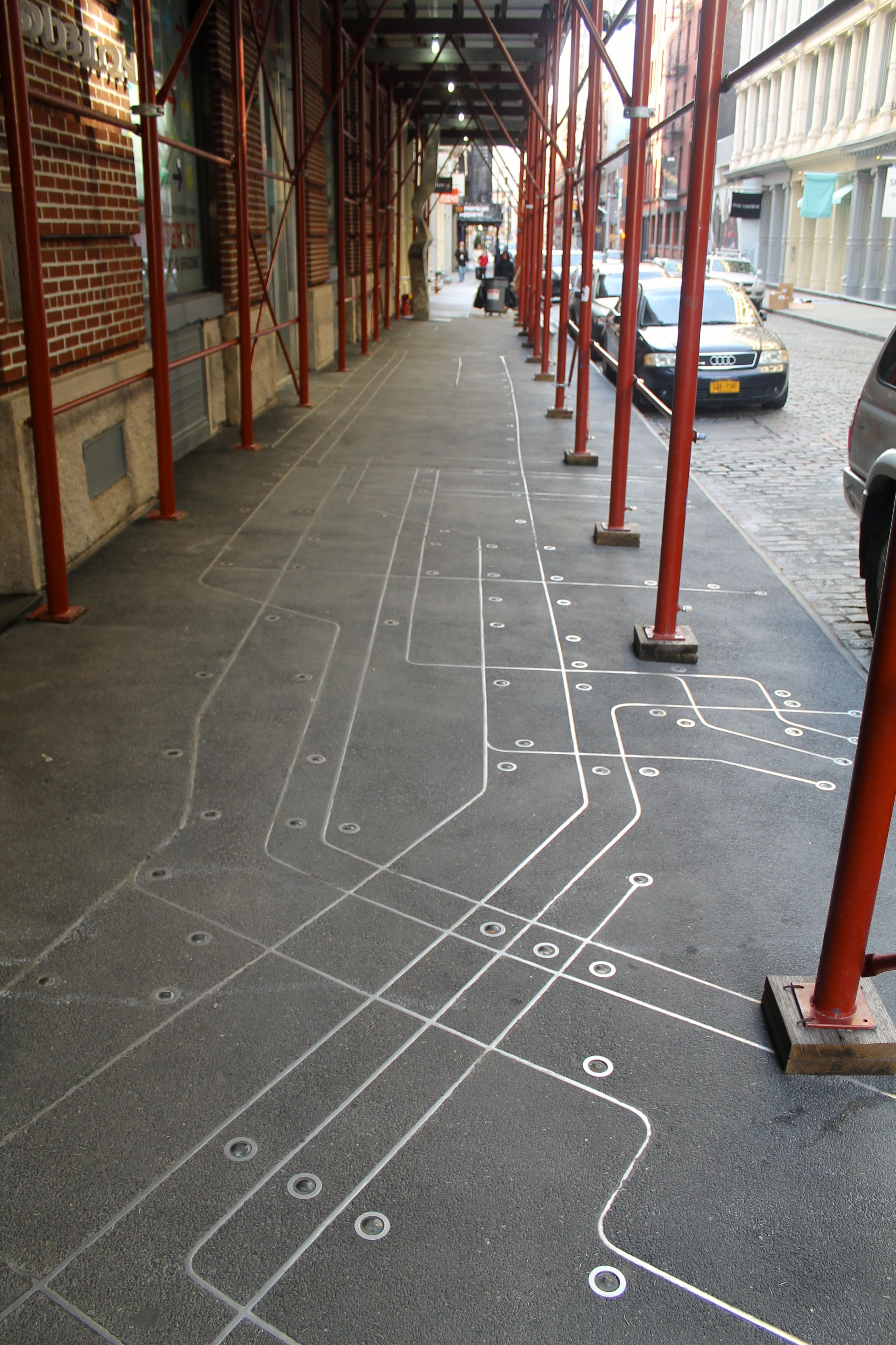 Floating Subway Map.Subway Map Floating On A Nyc Sidewalk I Ve Heard Of This But The