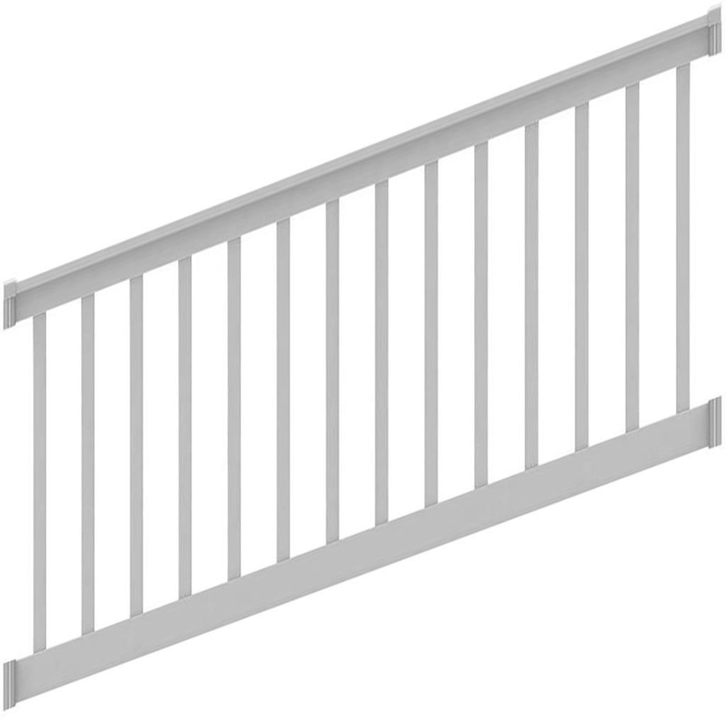 Best Deck Railing Finyl Line™ T Top Vinyl White Square Deck Railings Vinyl Railing Deck 400 x 300