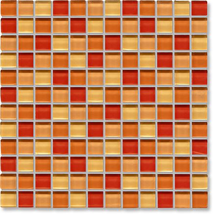 glass tile kitchen backsplash designs orange mosaic