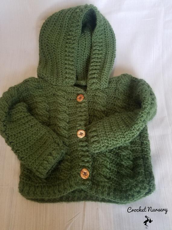 5acae8e9d4e1 Crochet Baby Sweater 3-6 months Unisex