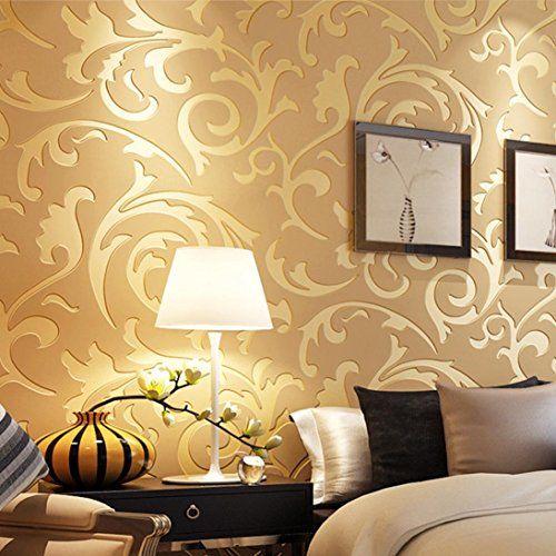 Price Error Memelatmluxury Silver 3d Victorian Damask Embossed Wallpaper Rolls Home Gold Wallpaper Living Room Living Room Wall Wallpaper Classic Home Decor