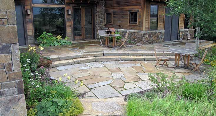 Retaining Wall Natural Stone Ideas | Wyoming, 83001 Natural Stone Walkway,  Paving, Patio