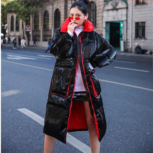 205c2fd9fd2a0 Autumn Women Duck Down Coat Winter Fashion Long Down Jacket Women Hooded  Thick Warm Outerwear Student