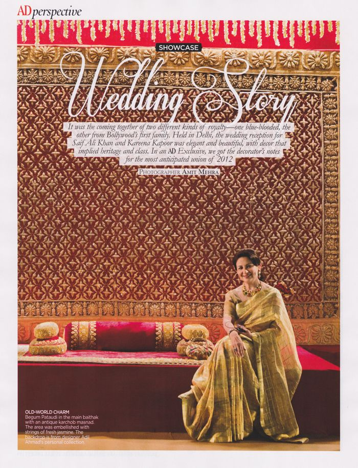 Our Bespoke Interior Design Division Charbagh Styled Kareena Kapoor And Saif Ali Khan S Wedding Reception Wedding Of The Year Bollywood Wedding Outside Movie
