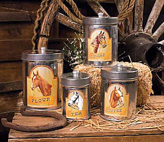 Nice Horse Country Kitchen Canister Set   $22.50 From Chicku0027s Saddlery