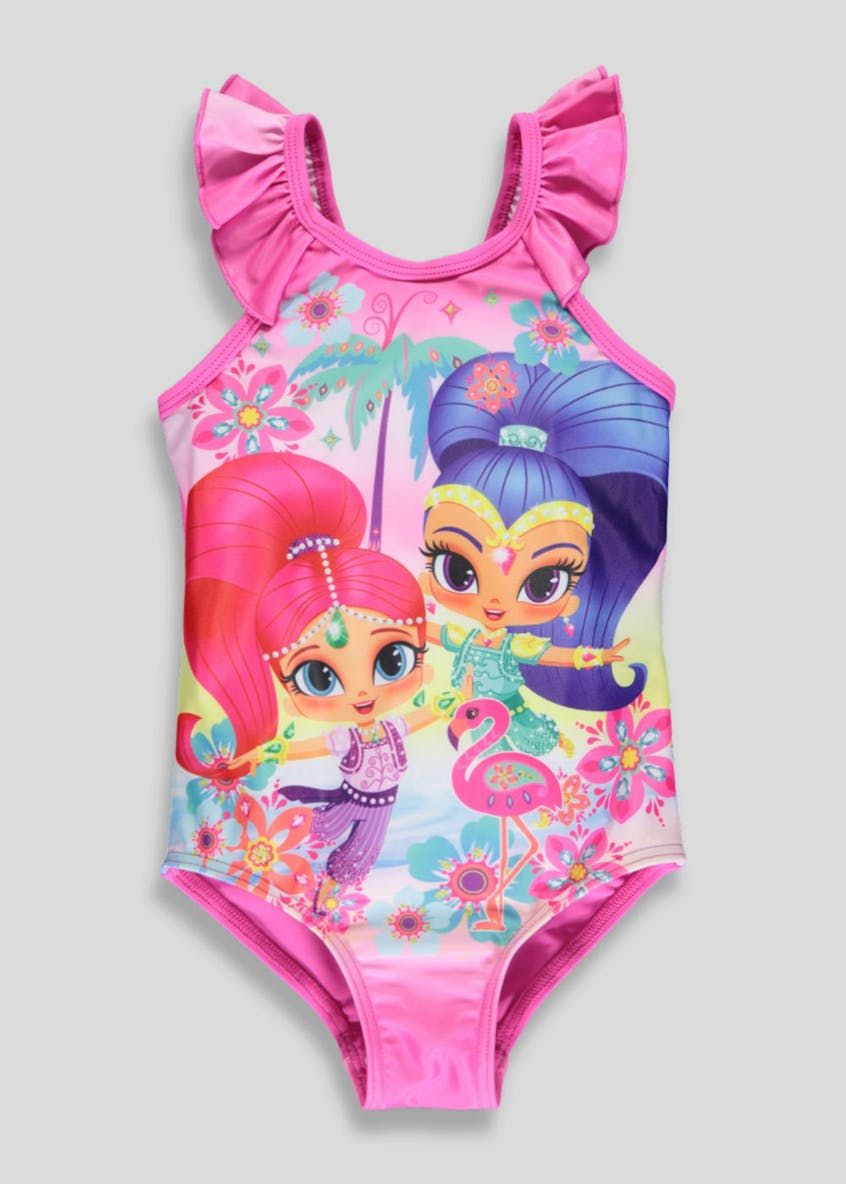 01a71d2040104 Girls Shimmer and Shine Swimming Costume (18mths-6yrs) – Pink ...
