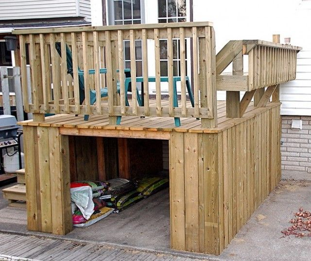 Under deck storage box backyard chill pinterest Deck storage ideas
