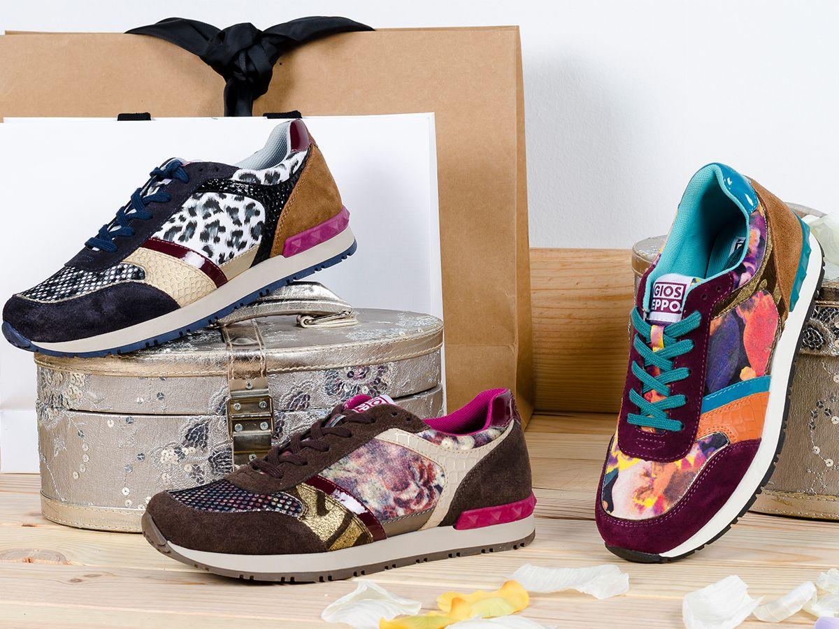 online store 0471c 8c41e Sneakers originales con mezcla de colores y estampados atrevidos de  Gioseppo.  ColorTextureSport