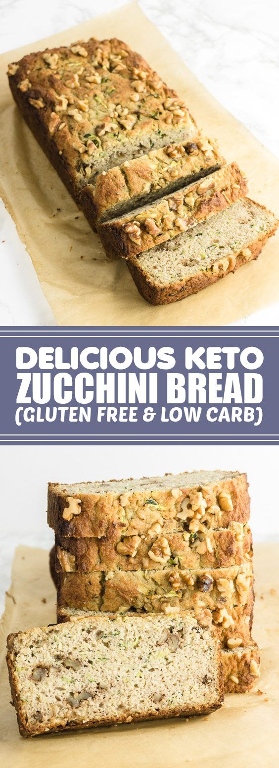 Delicious Keto Zucchini Bread (Gluten Free & Low Carb) | You'll love this moist and delicious ...