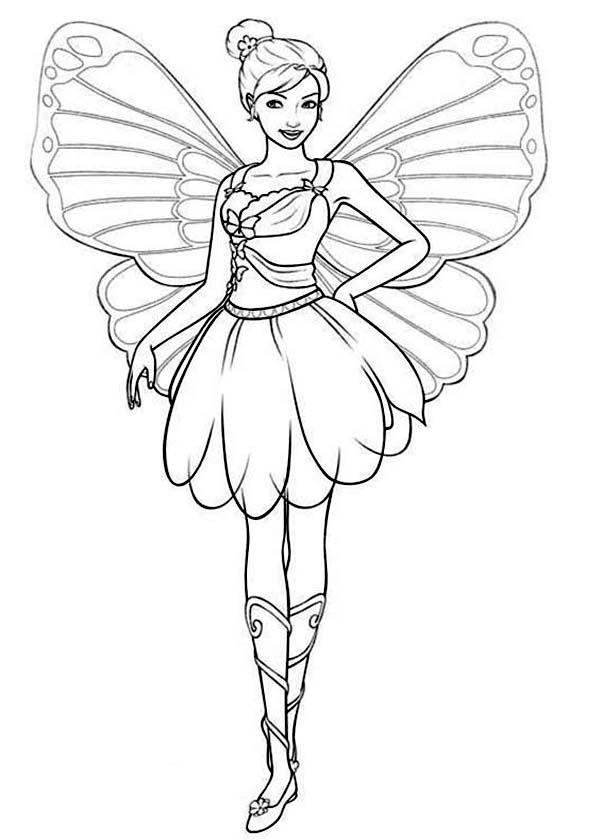 Pin On Barbie Mariposa Coloring Pages