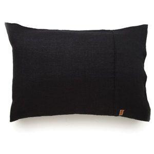 Linen Pillowcase Set - Black
