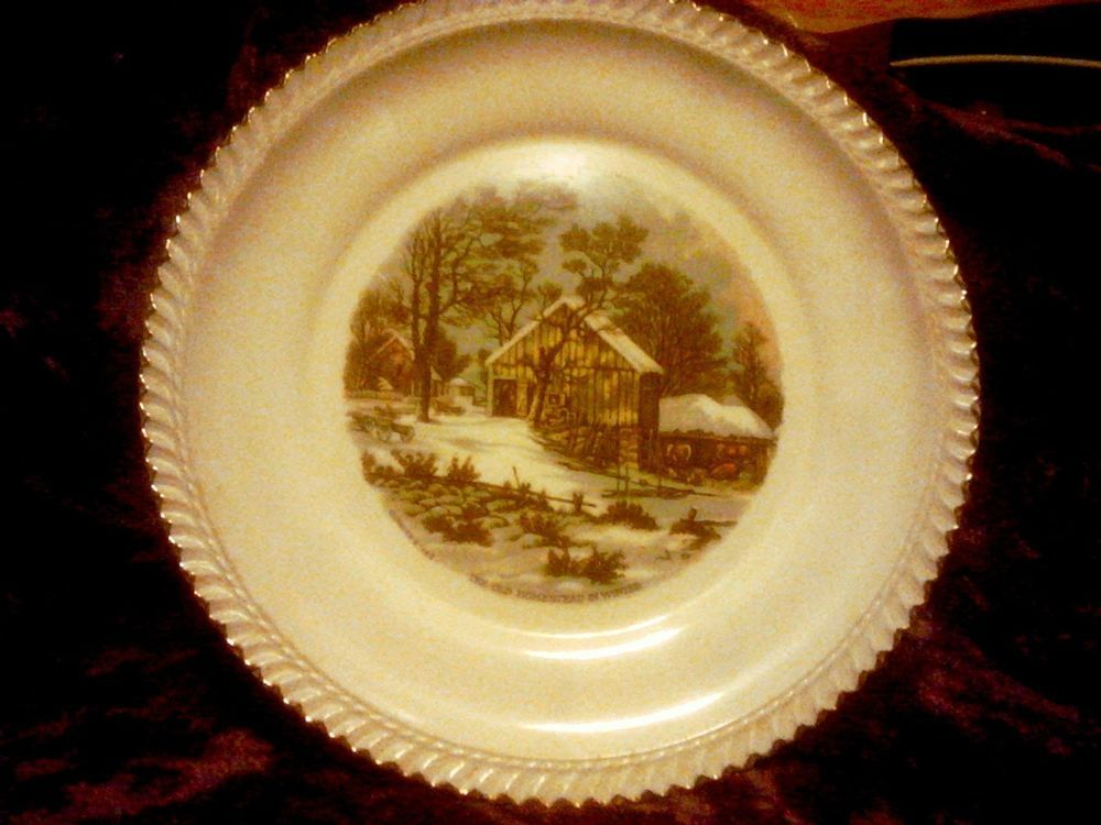 Harkerware Collector Plate Currier & Ives \