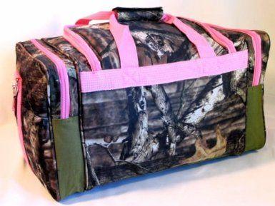 Amazon.com: Mossy Oak Pink Camouflage Duffle Bag 20