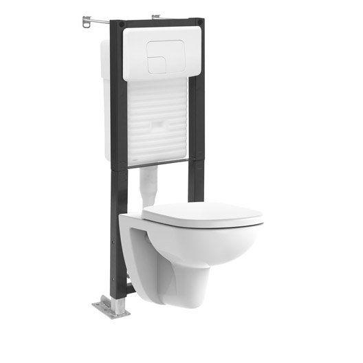Pack Wc Suspendu Bati Universel Lori Wc Suspendu Lave Main Toilette Vasque A Poser