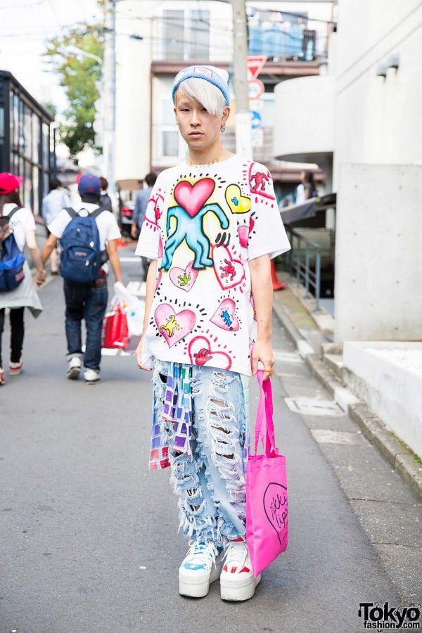 55a5eabf11606 Keith Haring Top