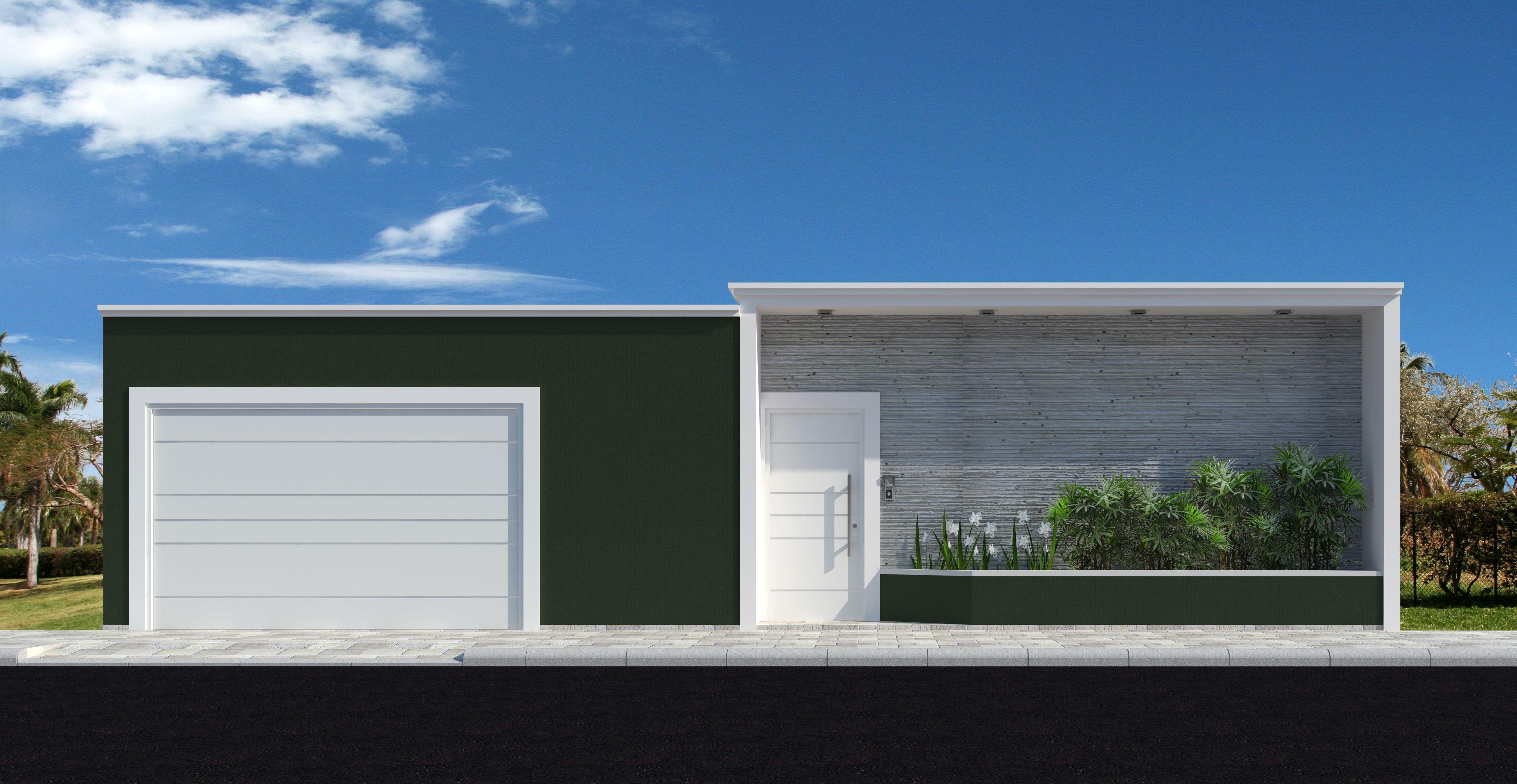 Fachadas de casas modernas com muros fotos port es for Casas modernas pintadas