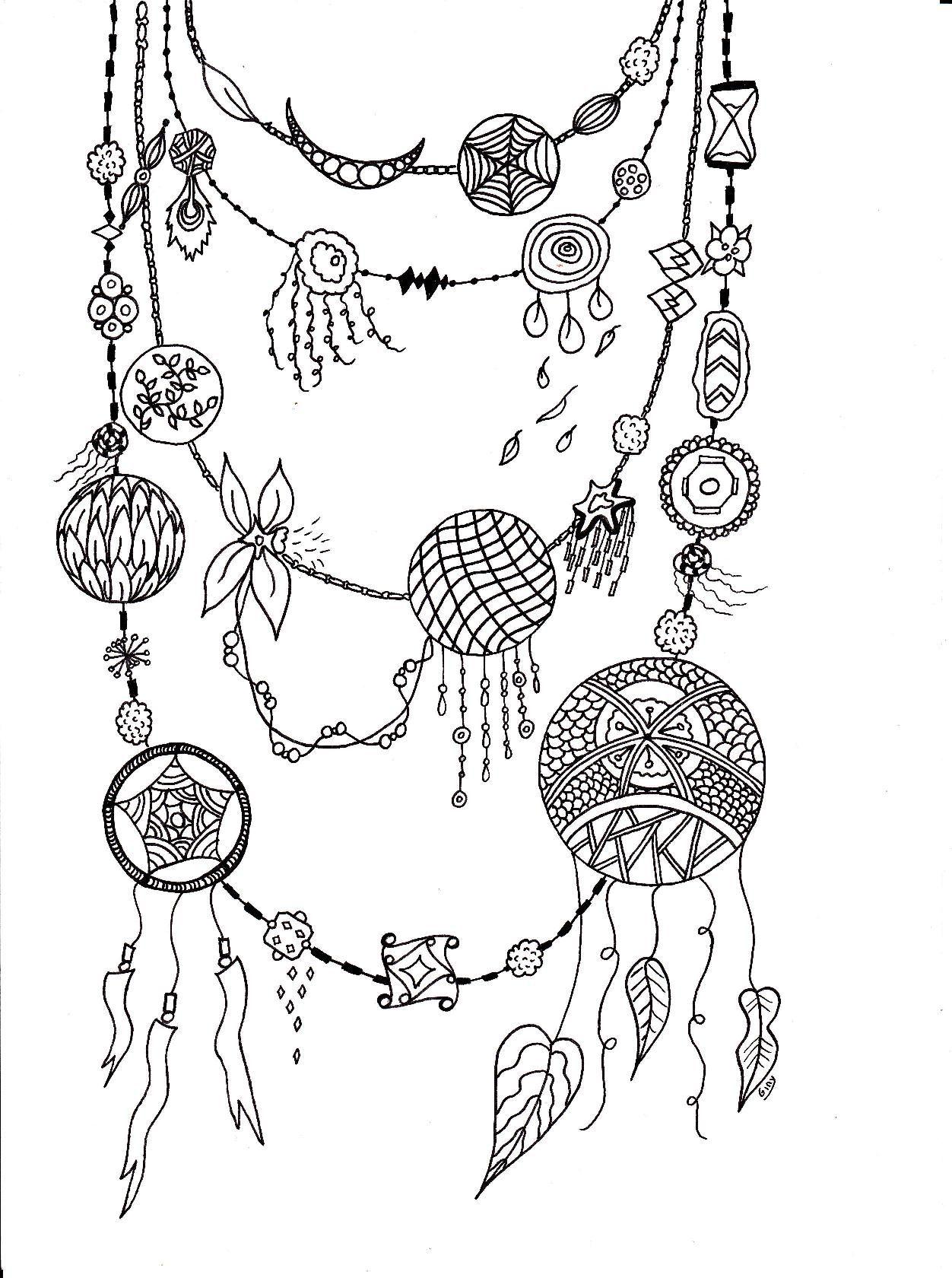 Épinglé sur Coloriages Bijoux