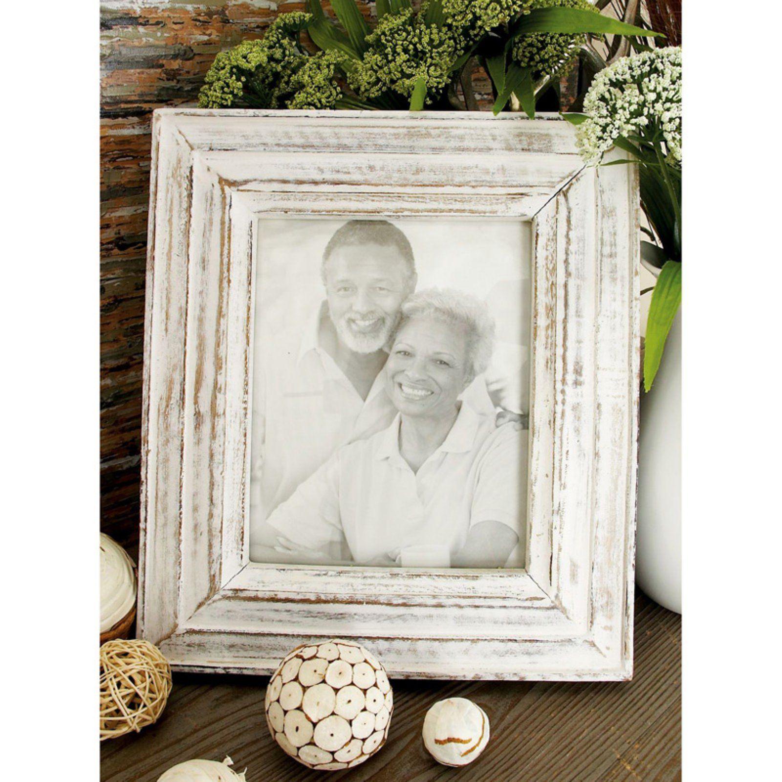 Decmode Oak And Whitewash Wood Photo Frame Set Of 2 Size 8 X
