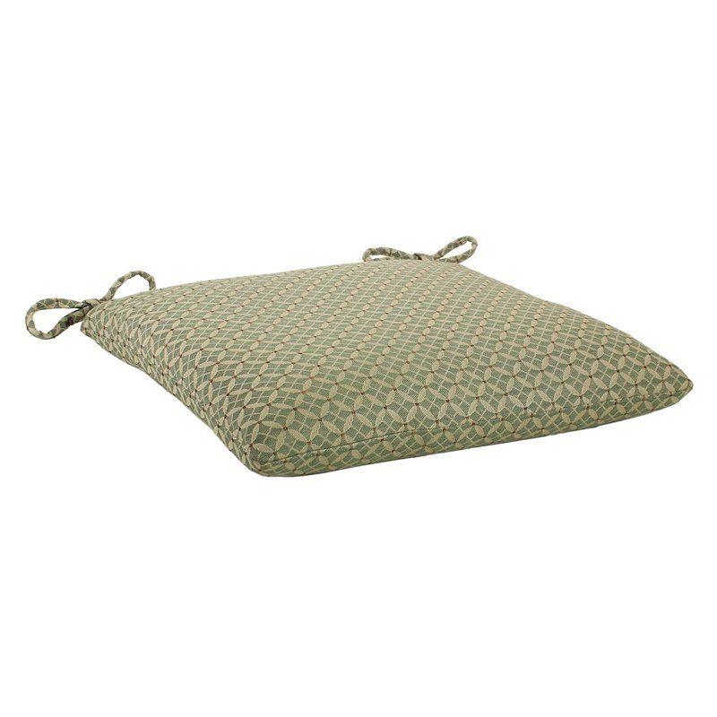 Comfort Classics Indoor/Outdoor Knife Edge Sunbrella Chair Cushion Richmond Geo Fern - HY2019-RICHMOND FERN