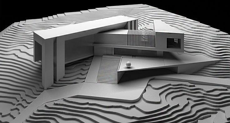 Maquetas con curvas de nivel buscar con google for Casa minimalista maqueta