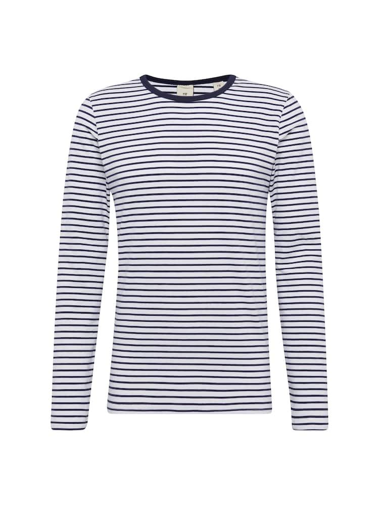 SCOTCH & SODA Langarmshirt 'Classic long sleeve jersey tee' in navy / weiß #stripedlongsleevetops