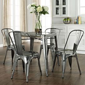 Galvanized Kitchen Table Chairs Galvanized Metal Anything
