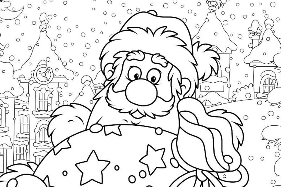 Santa Claus Coloring Pages for Kids & Adults: 10 Free ...