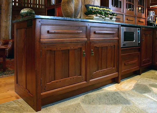 New Kitchen Cabinets In The Style Of Greene And Greene