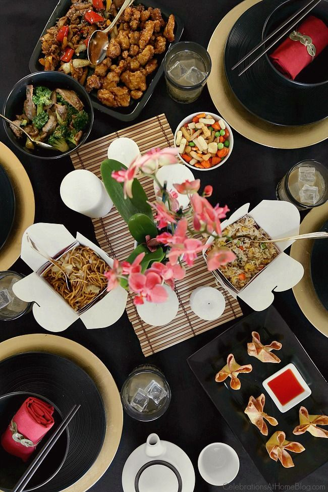 Host a Chinese Theme Dinner Party with Tablescape & Take