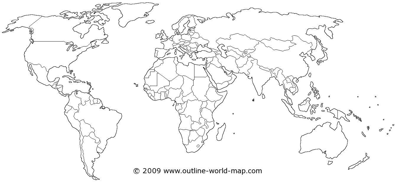 Color Free Printable World Map For Kids