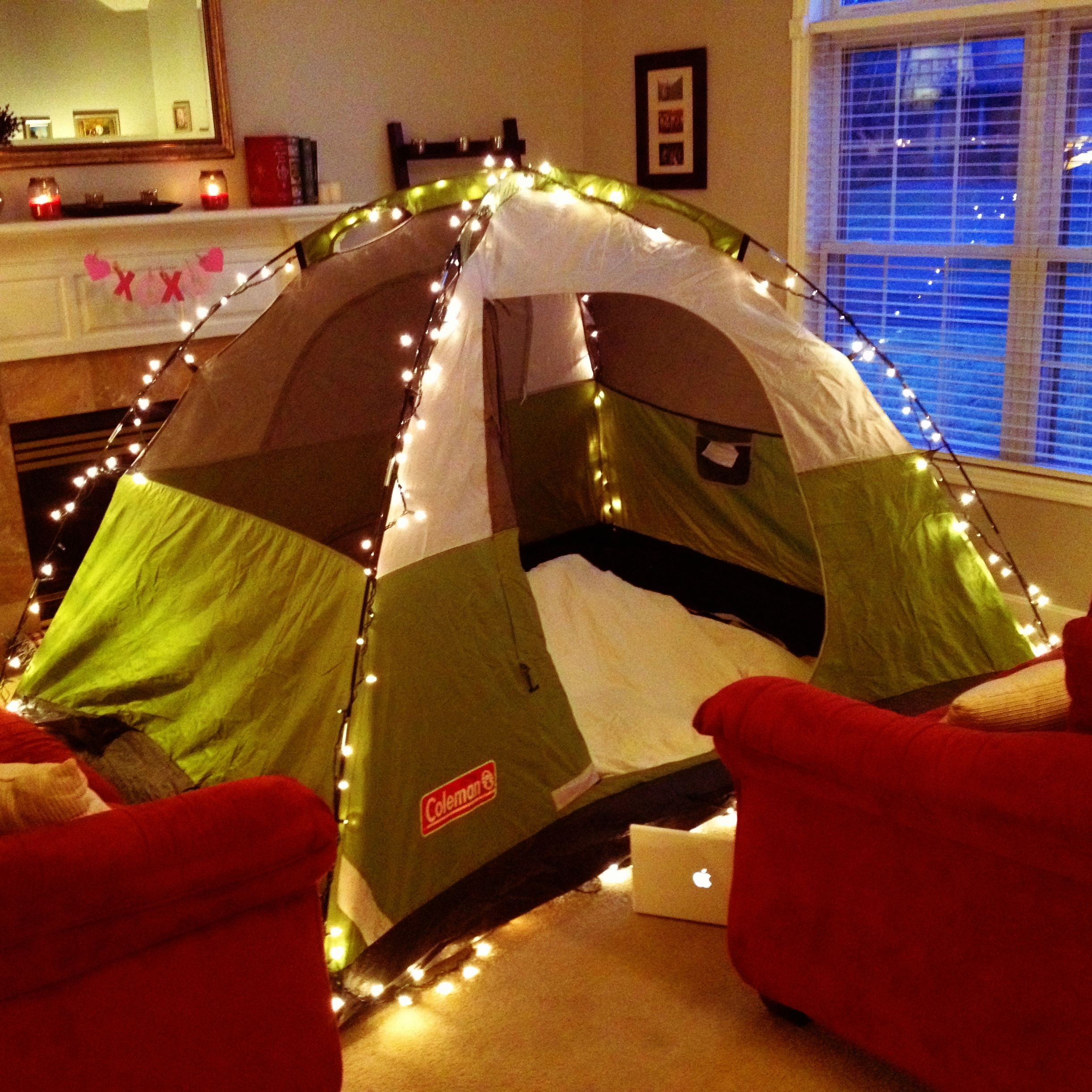 Best 25 indoor camping ideas on pinterest how to light fire pit fire pit without gas and Come home year decorations