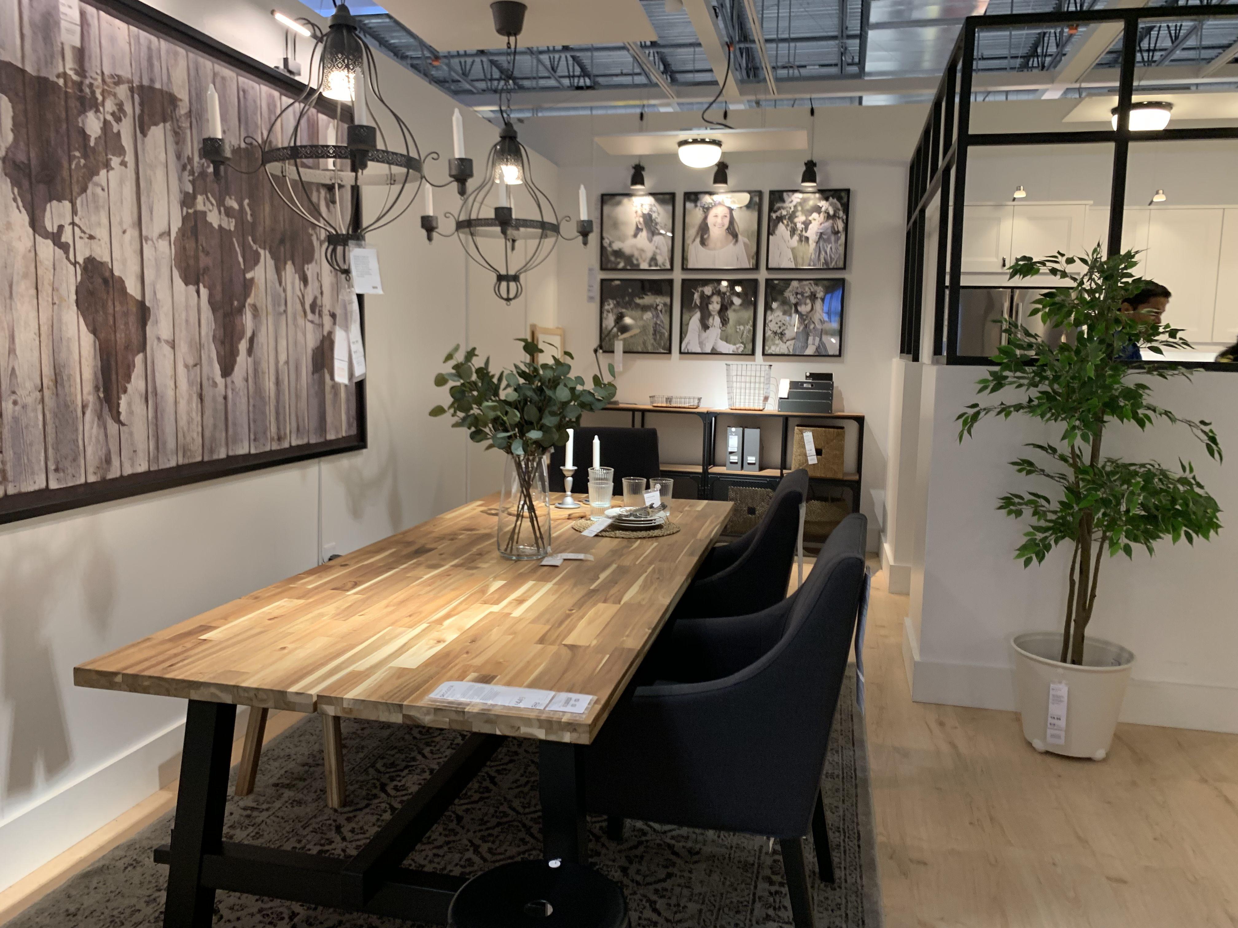 skogsta dining table acacia  ikea  ikea dining room