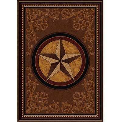 Gilded Star Western Area Rug For Ranch Or Home